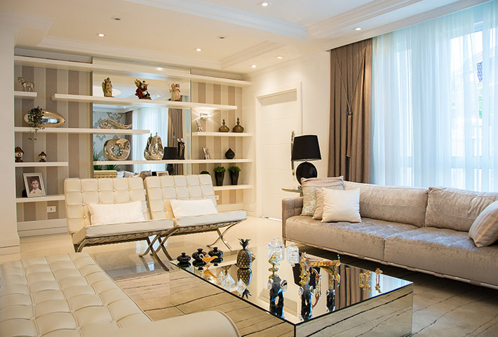 beige theme living room
