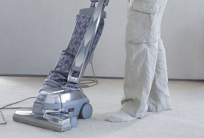 big light blue vacuum cleaner