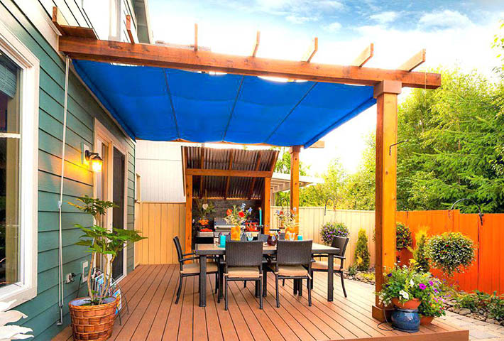 blue patio cover