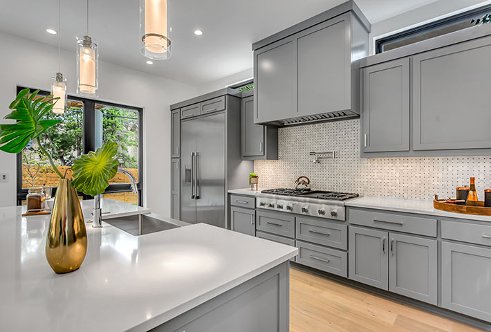 grey furniture kitchen