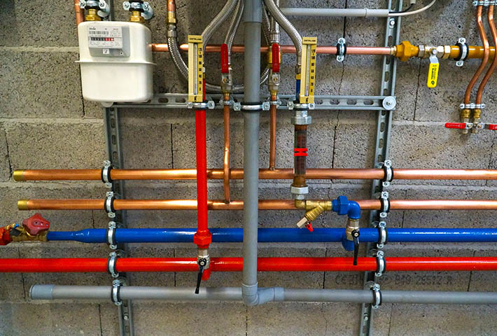 house plumbing pipes
