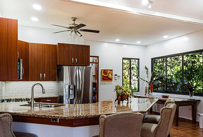 modern kitchen design with kitchen island