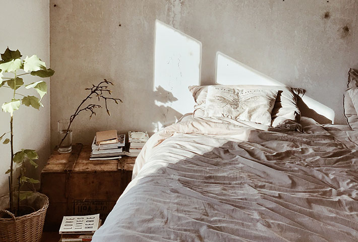 old room with books
