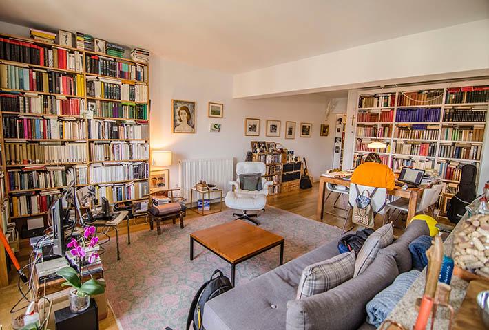 room full of books